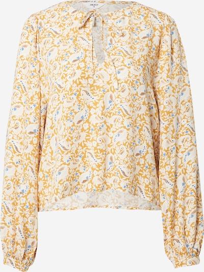 OBJECT Bluse 'MARIE' in himmelblau / braun / gelb / weiß, Produktansicht