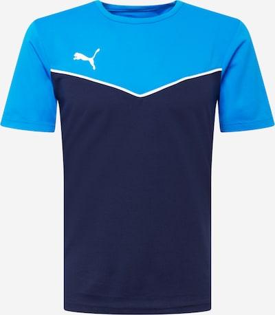PUMA T-Shirt fonctionnel 'Individual Rise' en bleu marine / bleu clair / blanc, Vue avec produit