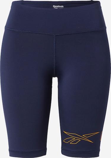 Reebok Sport Sportovní kalhoty 'Piping' - modrá / okrová, Produkt