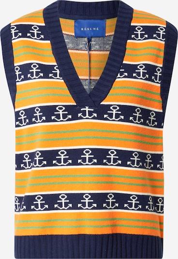 Résumé Pullunder 'Gordon' in navy / hellgrün / orange / weiß, Produktansicht