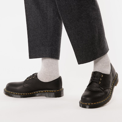 Dr. Martens Lace-Up Shoes in Black: Frontal view