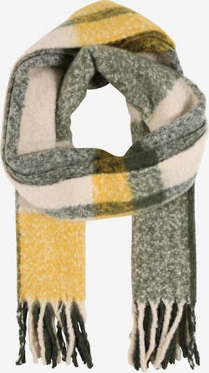 PIECES Scarf 'Bea' in beige / yellow / dark green, Item view