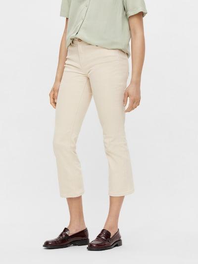 Jeans 'Delly' PIECES pe alb kitt, Vizualizare model