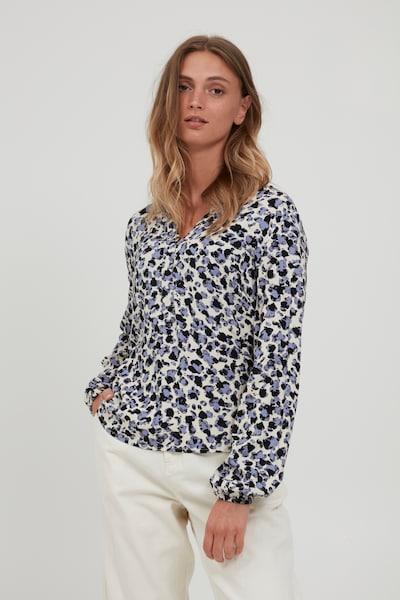 b.young Blusenshirt 'BYJOSA' in beige / blau, Modelansicht