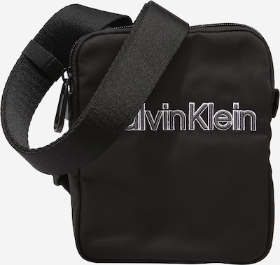 Geantă de umăr Calvin Klein pe gri închis / negru / alb, Vizualizare produs