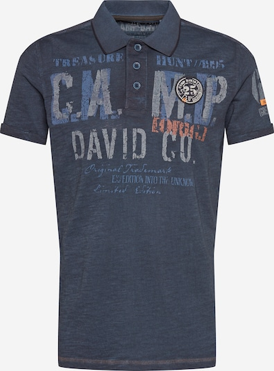 CAMP DAVID T-Shirt en bleu-gris / gris / corail, Vue avec produit