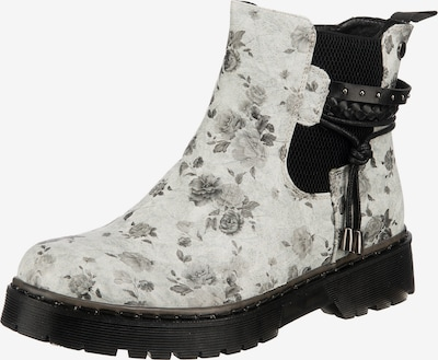 Laufsteg München Chelsea Boot in grau / schwarz / weiß, Produktansicht
