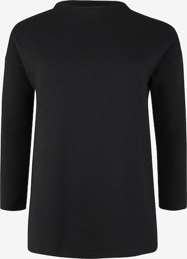 Doris Streich Pullover mit Rippstruktur in schwarz, Produktansicht