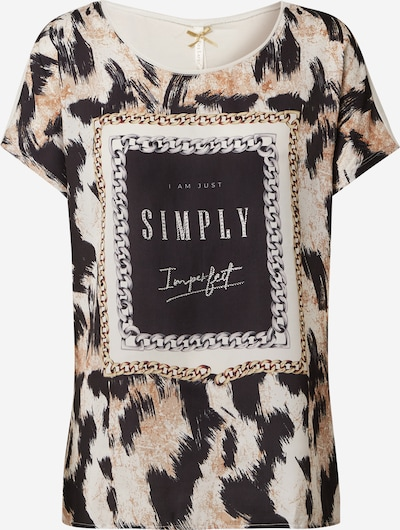 Key Largo Shirt 'IMPERFECT' in de kleur Lichtbruin / Zwart / Wit, Productweergave