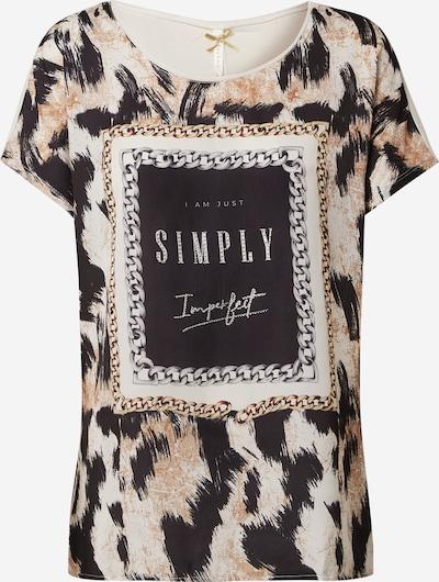 Maglietta 'IMPERFECT' Key Largo di colore marrone chiaro / nero / bianco, Visualizzazione prodotti