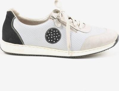 RIEKER Schnürsneaker in 40 in schwarz / weiß / wollweiß, Produktansicht