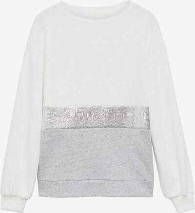 MANGO KIDS Sweatshirt 'plata7' in silber / weißmeliert, Produktansicht