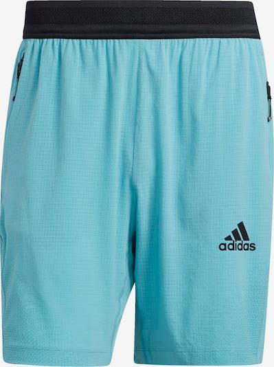 Sportinės kelnės iš ADIDAS PERFORMANCE, spalva – turkio spalva / juoda, Prekių apžvalga