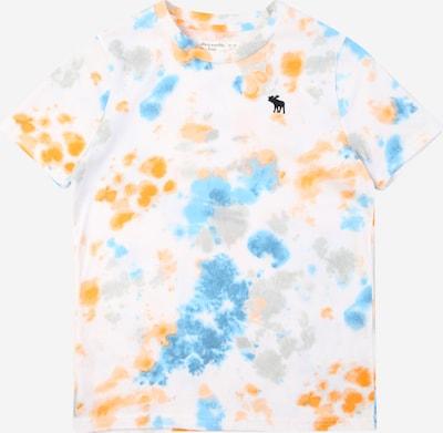 Abercrombie & Fitch Тениска в тюркоазен / сиво / оранжево / бяло, Преглед на продукта