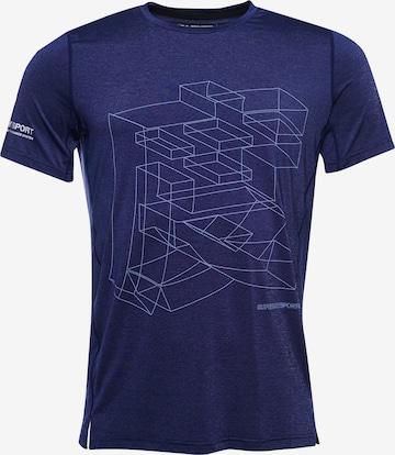 Superdry Funktionsshirt in Blau