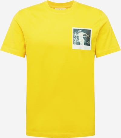 LACOSTE Тениска в жълто / сиво / бяло, Преглед на продукта