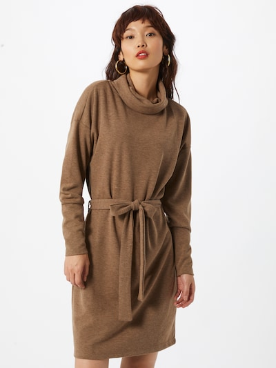 OBJECT Kleid 'Luna' in braun, Modelansicht