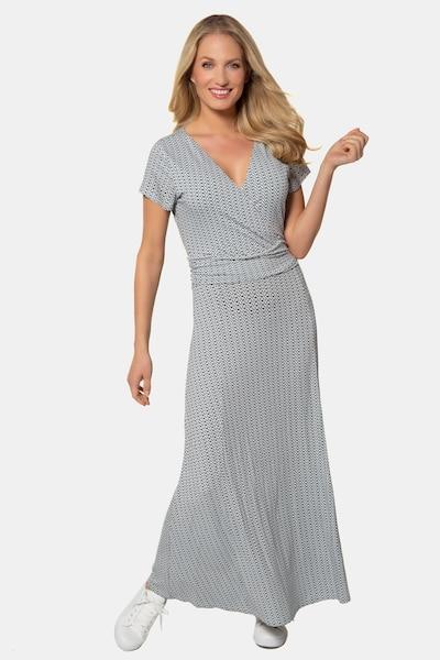 Gina Laura Gina Laura Damen Jerseykleid, Wickeloptik, gemustert, etwa knöchellang 723608 in grau, Modelansicht