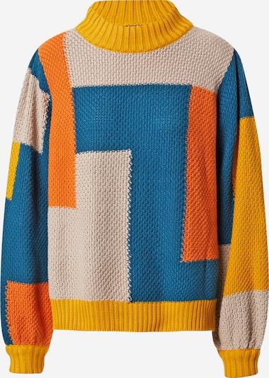 DEDICATED. Jersey 'Rutbo' en beige / amarillo / petróleo / naranja, Vista del producto