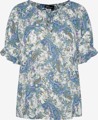 SPGWOMAN Bluse in blau / weiß, Produktansicht