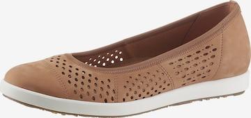 GABOR Ballet Flats in Brown