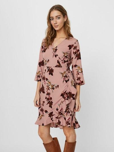 VERO MODA Kleid in puder / bordeaux, Produktansicht