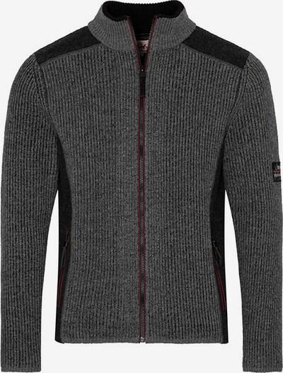 SPIETH & WENSKY Strickjacke in grau / schwarz, Produktansicht