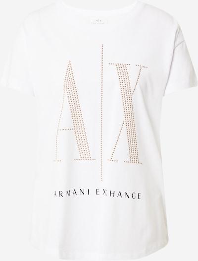 ARMANI EXCHANGE Majica u zlatna / crna / bijela, Pregled proizvoda