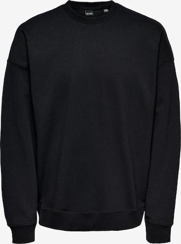 Only & Sons Sweatshirt 'Filip' in Schwarz