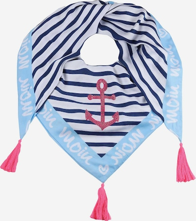 Zwillingsherz Masque en tissu en bleu marine / bleu clair / rouge / blanc, Vue avec produit