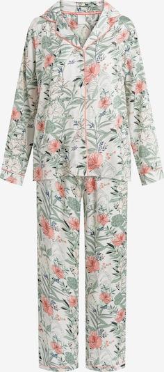 CCDK Copenhagen Pyjama 'Josephine' in de kleur Groen / Sinaasappel / Wit, Productweergave