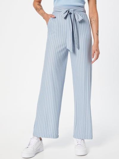 Pantaloni 'Darina' Hailys pe albastru deschis / alb, Vizualizare model