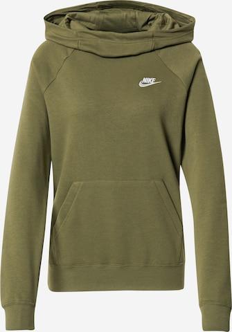 Bluză de molton de la Nike Sportswear pe verde