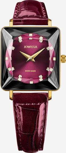 JOWISSA Armbanduhr in gold / lila / dunkellila / rot, Produktansicht
