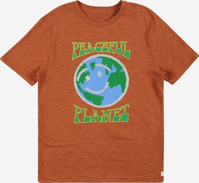 GAP Shirt in Light blue / Lime / Orange, Item view