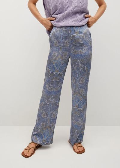 MANGO Hose in beige / blau, Modelansicht