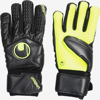 UHLSPORT Handschuh in neongelb / schwarz: Frontalansicht