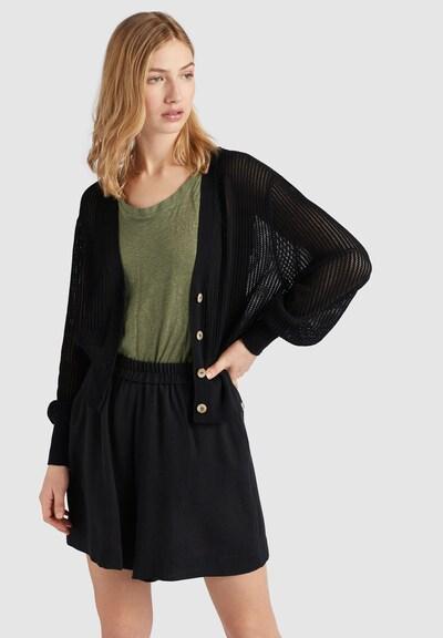 khujo Strickjacke 'GRAPE' in schwarz, Modelansicht