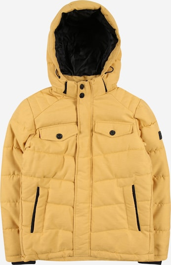 Jack & Jones Junior Winterjas in de kleur Mosterd, Productweergave