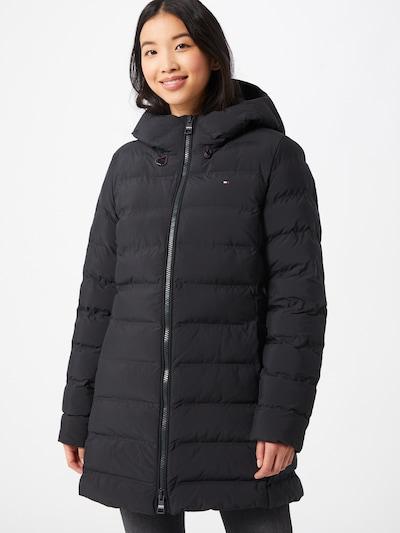 TOMMY HILFIGER Manteau d'hiver en noir, Vue avec modèle