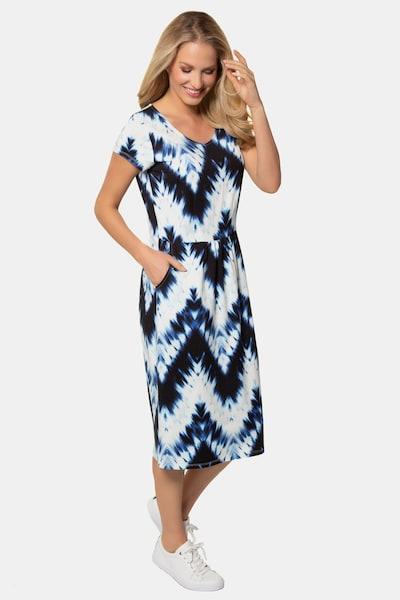Gina Laura Jerseykleid in blau, Modelansicht