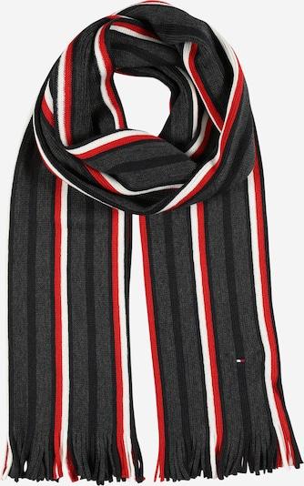 Sciarpa TOMMY HILFIGER di colore grigio scuro / rosso acceso / nero / bianco, Visualizzazione prodotti
