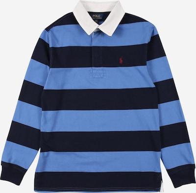 POLO RALPH LAUREN T-Shirt 'RUGBY' en bleu marine / bleu roi / blanc, Vue avec produit