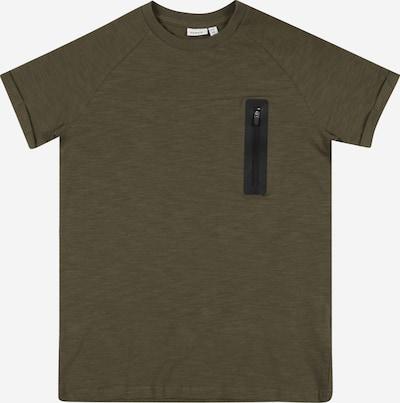 Tricou 'JESPER' NAME IT pe oliv / negru, Vizualizare produs