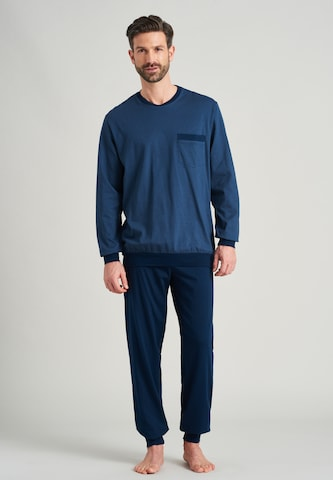 SCHIESSER Pajamas long in Blue