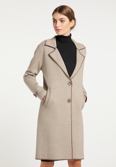 usha BLACK LABEL Pletený kabát - béžová / tmavošedá, Model/-ka