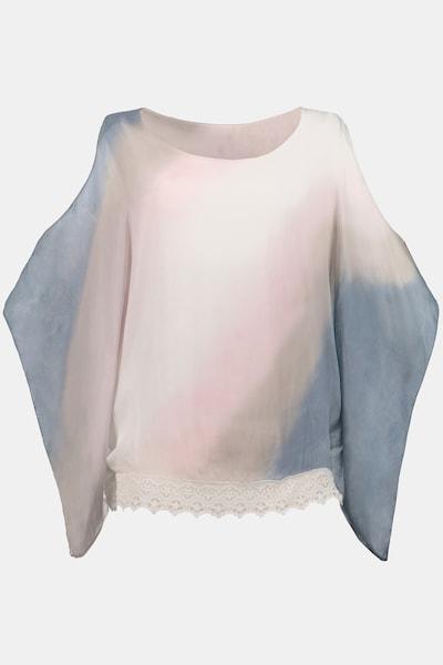 Gina Laura Seidenbluse in blau / rosa / weiß, Produktansicht
