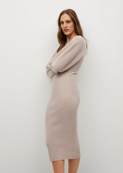 Rochie tricotat 'Nibia' MANGO pe pudră, Vizualizare model