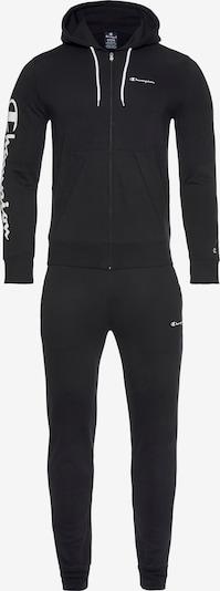 Champion Authentic Athletic Apparel Jogginganzug in schwarz / weiß, Produktansicht