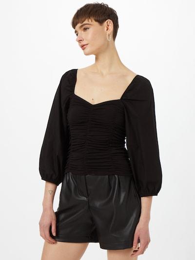 PIECES Bluse 'ALYSIA' in schwarz, Modelansicht